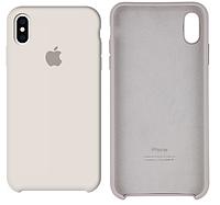 Чехол Silicone Case для iPhone X, Xs белый (айфон икс, икс ес)