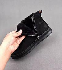 Ботинки Gucci Winter Web Stripe Black, фото 2