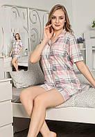 Пижама шорты и рубашка на пуговицах