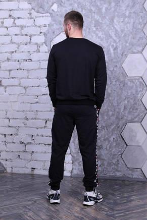 Свитшот чёрный с чёрными лампасами Fila, фото 2