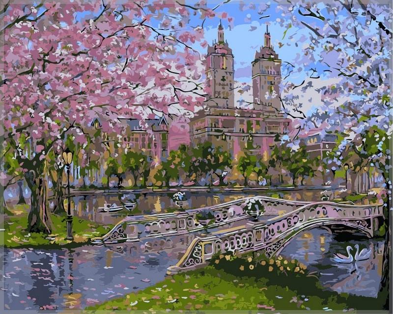Картина по номерам Babylon Весна в парке 40*50 см (в коробке) арт.VP296