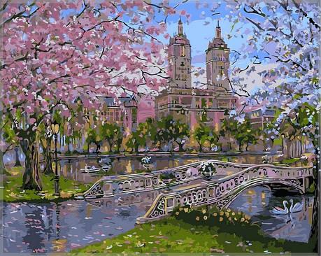 Картина по номерам Babylon Весна в парке 40*50 см (в коробке) арт.VP296, фото 2