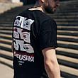 Футболка оверсайз мужская Пушка Огонь Айс черная, фото 3