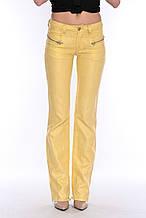 Брюки женские OMAT jeans 9377-528 лен желтые