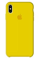 Чехол Silicone Case для iPhone X, Xs желтый (айфон икс, икс ес)