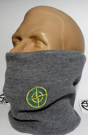 Защитная маска Бафф Stone Island Grey, фото 2