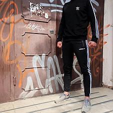 Свитшот в стиле Adidas Badge черный, фото 2