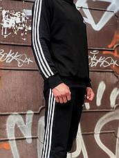 Свитшот в стиле Adidas Badge черный, фото 3