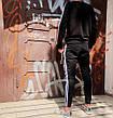 Свитшот в стиле Adidas Badge черный, фото 5