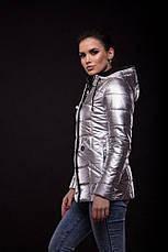 Куртка Exclusive утеплённая серебряного цвета, фото 2