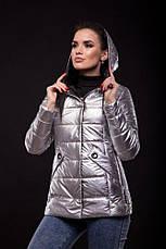 Куртка Exclusive утеплённая серебряного цвета, фото 3