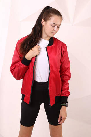 Бомбер красный с водоотталкивающими свойствами  Quest Wear, фото 2
