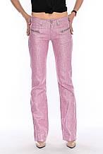 Брюки женские OMAT jeans 9377-528 лен розовые