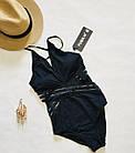 Відрядний купальник Fuba 5863-1 чорний, фото 2