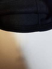 Бафф утеплённый чёрный с чёрно-белыми лампасом Kappa, фото 3
