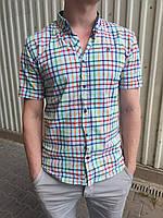 Рубашка мужская клетка