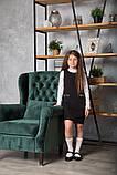 Сарафан для девочки школьный SmileTime Valentino с карманами, черный (ШКОЛА), фото 5