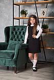 Сарафан для девочки школьный SmileTime Valentino с карманами, черный (ШКОЛА), фото 6