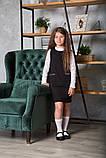 Сарафан для девочки школьный SmileTime Valentino с карманами, черный (ШКОЛА), фото 3