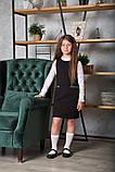 Сарафан для девочки школьный SmileTime Valentino с карманами, черный (ШКОЛА), фото 4