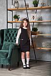 Сарафан для девочки школьный SmileTime Valentino с карманами, черный (ШКОЛА), фото 2
