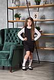 Сарафан для девочки школьный SmileTime Valentino с карманами, черный (ШКОЛА), фото 7