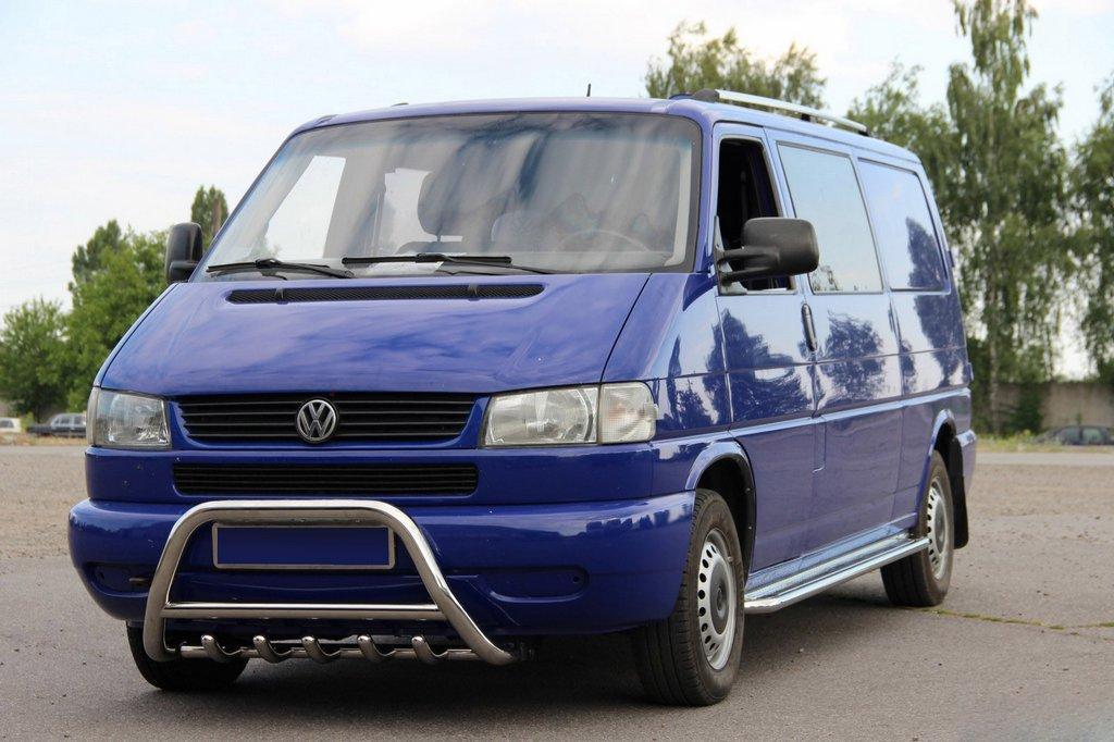Кенгурятник WT003 (нерж) Volkswagen T4 Caravelle/Multivan / Кенгурятники Фольксваген Каравелла