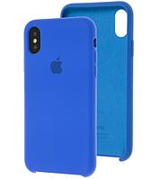Чехол Silicone Case для iPhone X, Xs синий (айфон икс, икс ес)