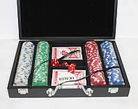 Набор для покера 200 фишек без номинала в кейсе