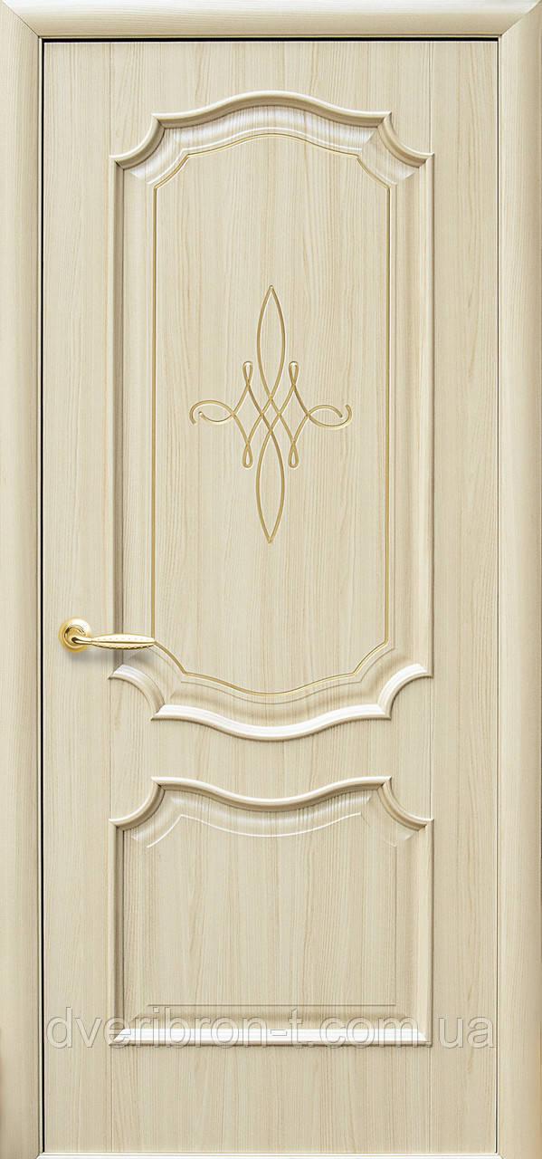 Двери Новый Стиль Рока Gold глухое ясень, коллекция Интера DeLuxe