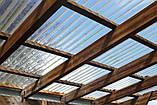 Гофрований полікарбонат SUNTUF 1.26х3 метра Прозорий, фото 3