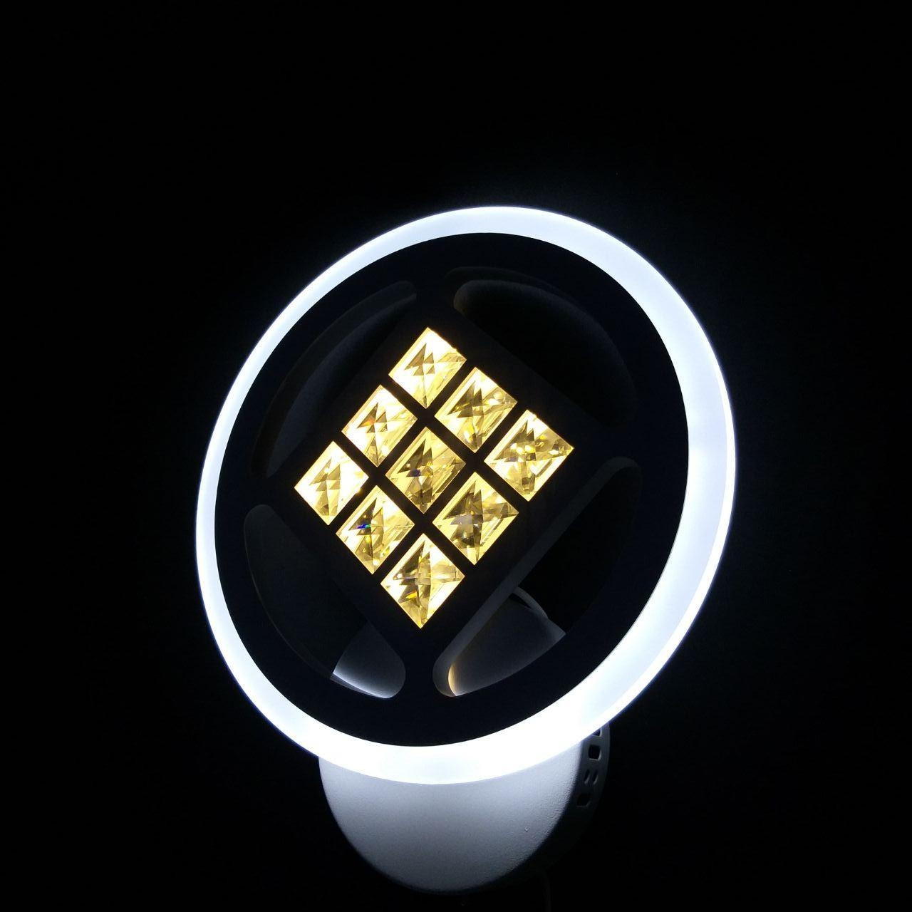Бра LED з кристалами коло 20-LI8860/1A 42W WH