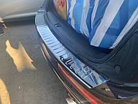 Накладка на задний бампер Carmos (нерж) Audi Q5 2008-2017 / Накладки на задний бампер Ауди Q5