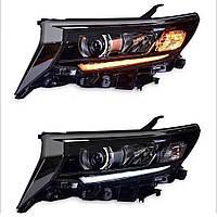 Передняя оптика LED (2017+, 2 шт) Toyota LC 150 Prado / Передние фары Тойота Ленд КрузерПрадо LC 150, фото 1