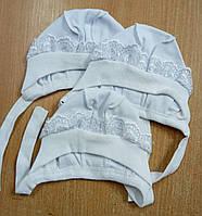Шапочка на завязках р.56 ткань интерлок