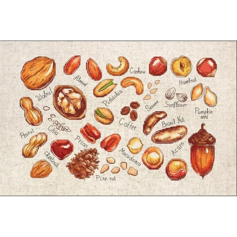 Наборы для вышивания крестом Luca S Орехи и семена.