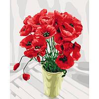 Картина по номерам Идейка КНО3065 40*50 cм Букет для мамы