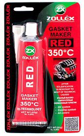 Силиконовый герметик   Zollex Gasket Maker красный