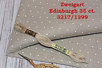 Ткань равномерного переплетения Zweigart Edinburgh 35 ct. 3217/1399 Цвет льна с белыми мини точками