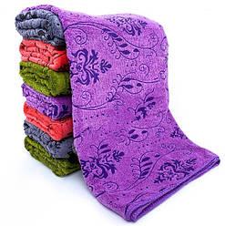 Банные полотенца микрофибра «Растительные узоры» (8 шт)