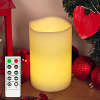 Электронная свеча 15 см с дистанционным управлением, фото 1