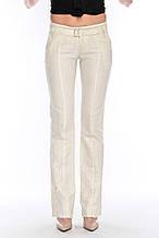Брюки женские OMAT jeans 9275 лен бежевые