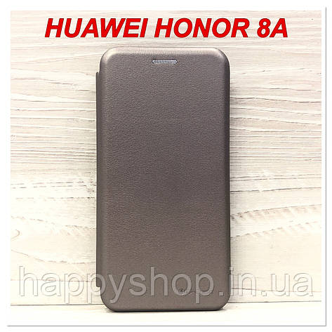 Чохол-книжка G-case для Huawei Honor 8A (Сірий), фото 2
