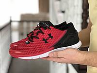 Мужские кроссовки в стиле Under Armour SpeedForm Gemini, сетка, красные с черным 45(28,5 см), последний размер