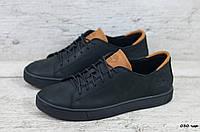 Мужские кроссовки / кеды в стиле Timberland, кожа, черные с коричневым *** 40(26 см)