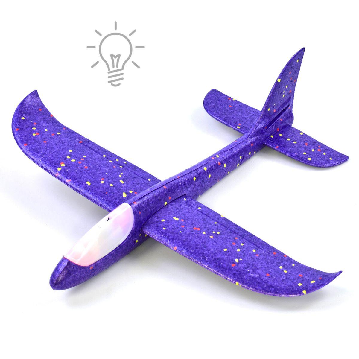 Пенолет метательный с подсветкой, 48 см, фиолетовый