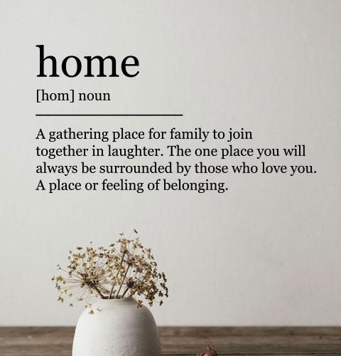 Наклейка на стіну Home a gathering place for family to join together in laughter