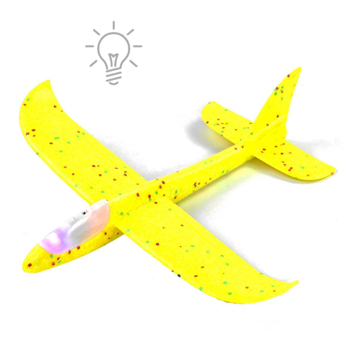 Пенолет метательный с подсветкой, 48 см, желтый