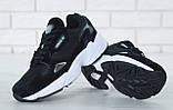 Чоловічі кросівки Adidas Falcon в стилі Адідас Фалкон ЧОРНІ БІЛІ (Репліка ААА+), фото 4