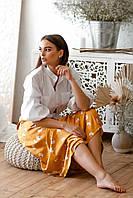 Красивая женская рубашка Sharloni (42–56р) в расцветках